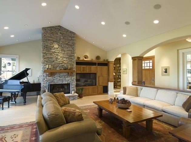Sfeervolle woonkamer met het juiste belichtingsplan